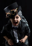 Child closeup steampunk Stock Photos