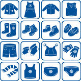 Child clothes set Royalty Free Stock Image