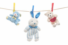 Child clothesline Royalty Free Stock Images