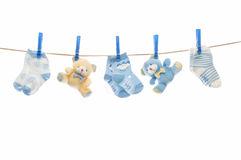 Child clothesline Royalty Free Stock Photos