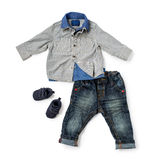 Child clothing on white background Royalty Free Stock Image