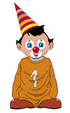 Child clown. Child dressed of clown with big shoes and sweater Royalty Free Illustration