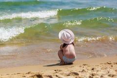 Child on the coast Stock Photo