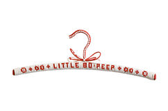 Child coat hanger (red). A handmade child coat hanger with the nursery rhyme Little Bo Peep Royalty Free Stock Photos