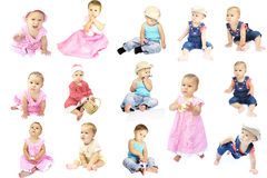 Child collection of children Royalty Free Stock Photography