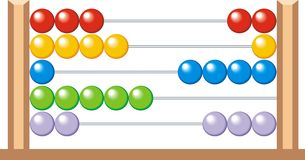 Abacus (calculator for kids) Stock Photography