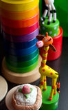 Child colorful toys in nursery Royalty Free Stock Photo