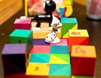 Child colorful toys in nursery Stock Photo