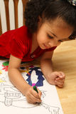 Child coloring Stock Photography