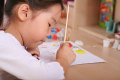 Child coloring Stock Photo