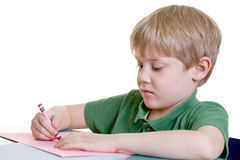 A child coloring Stock Image