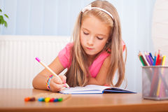 Child coloring Royalty Free Stock Image