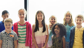 Child Companionship Diversity Ethnicity Unity Concept stock photography