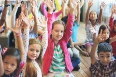 Child Companionship Diversity Ethnicity Unity Concept.  stock image
