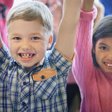 Child Companionship Diversity Ethnicity Unity Concept stock image