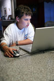 Child on computer Royalty Free Stock Photo