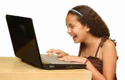 Child with a computer Royalty Free Stock Images