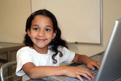 Child on Computer Royalty Free Stock Images