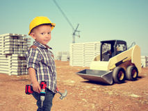 Child and construction site Stock Photography