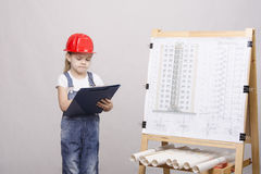 The child constructor is drawing near Stock Images