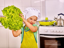 Child cooking at kitchen Stock Photo