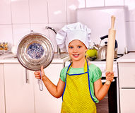 Child cooking at kitchen Stock Photography