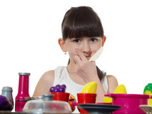 Child cooking Royalty Free Stock Photos