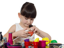 Child cooking Stock Photo
