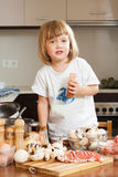 Child cooking soap Royalty Free Stock Image