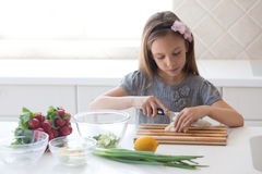 Child cooking Royalty Free Stock Photo