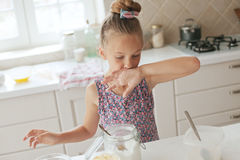 Child cooking Royalty Free Stock Images