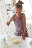 Child cooking Stock Photography