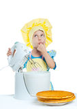 Child cooks Royalty Free Stock Images