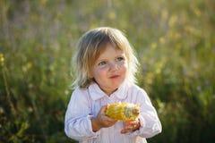 Child, corn Stock Photos