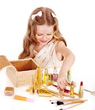 Child cosmetics. Royalty Free Stock Photo