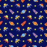 Child cosmos seamless pattern Royalty Free Stock Photography