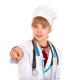 Child in costume of doctor. Stock Image