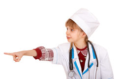 Child in costume of doctor. Stock Photo