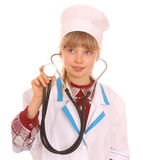 Child in costume of doctor. Royalty Free Stock Images