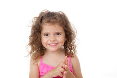 Child counting with fingers Royalty Free Stock Photos