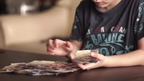 Child counting Money stock video footage