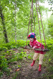Child in countryside Royalty Free Stock Images