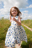 Child in countryside Stock Images