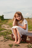 Child in countryside Stock Image