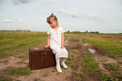 Child in countryside Stock Photography