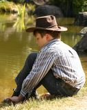 Child in cowboy hat Royalty Free Stock Image