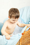 Child in Cradle Stock Photography