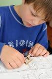 Child craftsmanship royalty free stock photos
