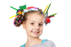 Child and creativity, development Royalty Free Stock Photos