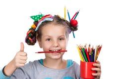 Child and creativity, development Stock Photography